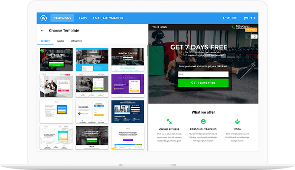 Thiết kế landing page Wishpond